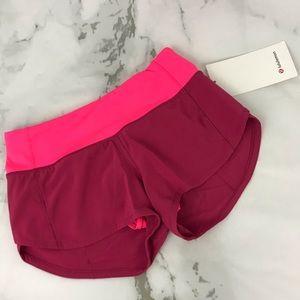 lululemon Athletica Speed Up Shorts 2.5 Size 0 NWT